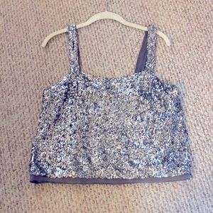 A&F Sequined open back tank